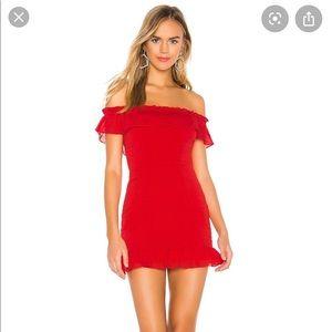 Superdown red dress